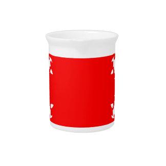 Red Circular Print Pitcher