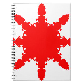 Red Circular Print Spiral Notebook