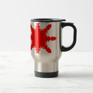 Red Circular Print Travel Mug