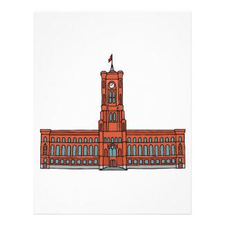 Red City Hall Berlin Letterhead Template