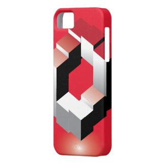 Red clasic Cube I phone case