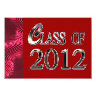 Red Class Of 2012 Graduation Party Invitations