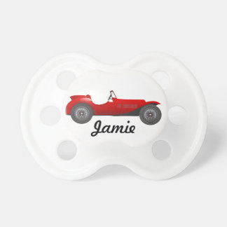 Red Classic Car Baby Shower Door Prize Pacifier