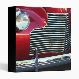 Red Classic Car binder