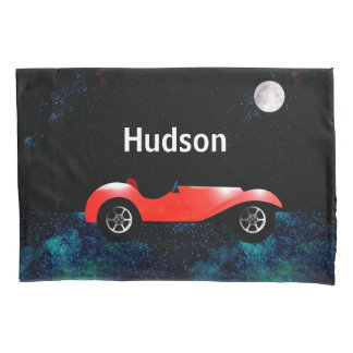 Red Classic Car Boys Room Decor Pillowcase