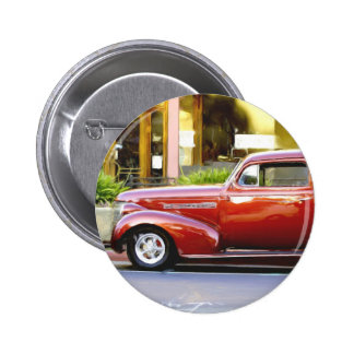 Red Classic Car Button