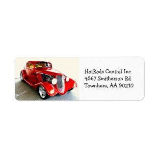 Red Classic Car Hot Rod