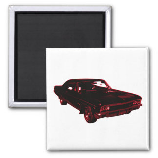 Red Classic Car Magnet