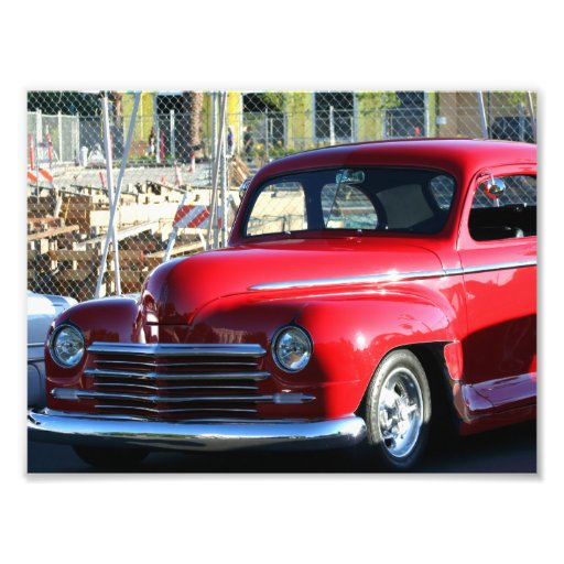 Red Classic Car Photo Print