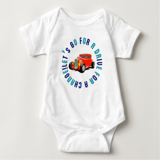 Red classic car rompers