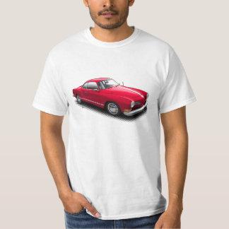 Red Classic German Ghia on White T-Shirt