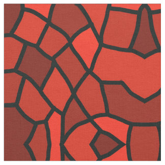 Red Clay Stained Glass Pattern Fabric