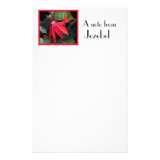 Red Clematis Stationery Design