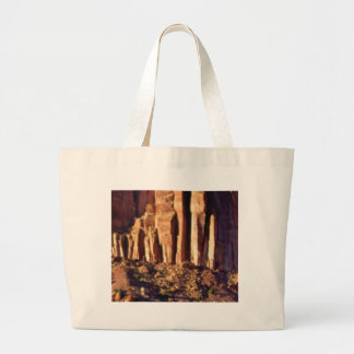 red cliff begining large tote bag