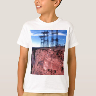 Red cliff Power lines T-Shirt