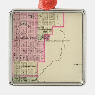 Red Cloud, Nebraska Silver-Colored Square Ornament