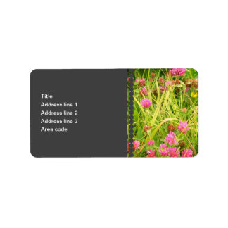 Red Clover & Buttercup Personalized Address Labels