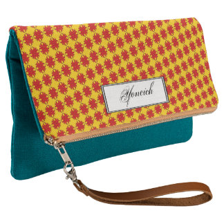 Red Clover Ribbon by Kenneth Yoncich Clutch