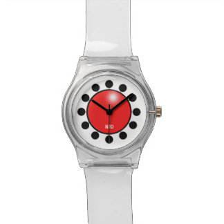 Red clown nose customisable with initials watch