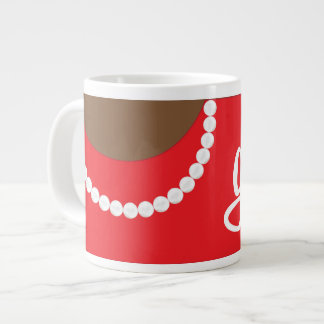 Red Clutch Pearls and Gasp Jumbo Mug