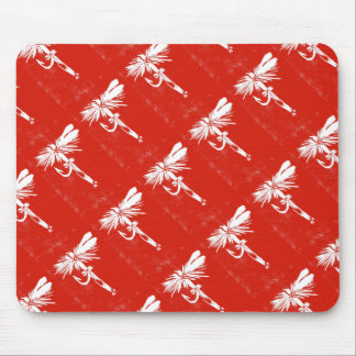 """Red Coachman"" Trout Fly Mousepad"