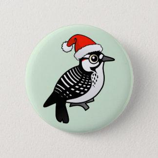 Red-cockaded Woodpecker Santa 2 Inch Round Button