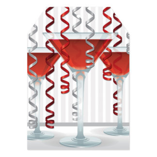 Red cocktail and ribbon card