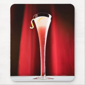 Red Cocktail Mouse Pad