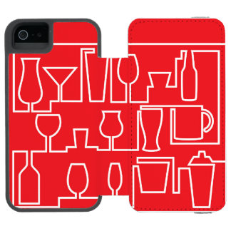 Red cocktail party incipio watson™ iPhone 5 wallet case