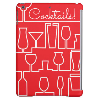 Red cocktail party iPad air case