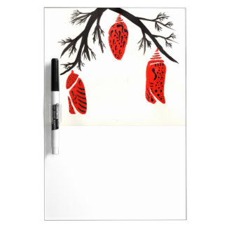 Red Cocoons On A Black Branch Dry-Erase Whiteboards