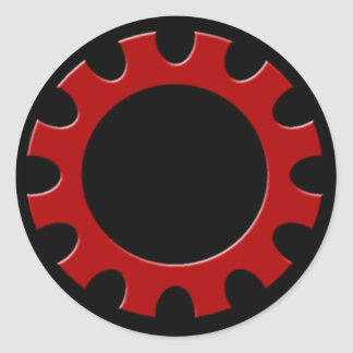 Red Cog Sticker