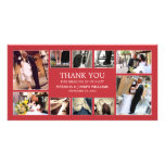 RED COLLAGE | WEDDING THANK YOU CARD CUSTOMIZED PHOTO CARD