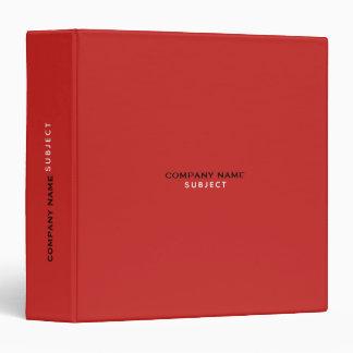 red color binder