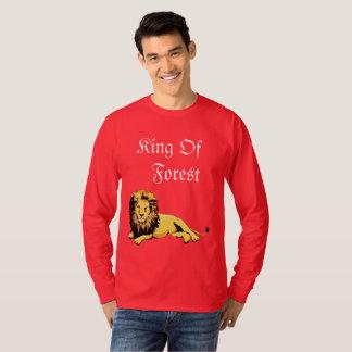 Red color lion t-shirts