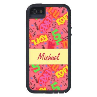 Red Colorful Electronic Texting Art Abbreviation iPhone 5 Cases