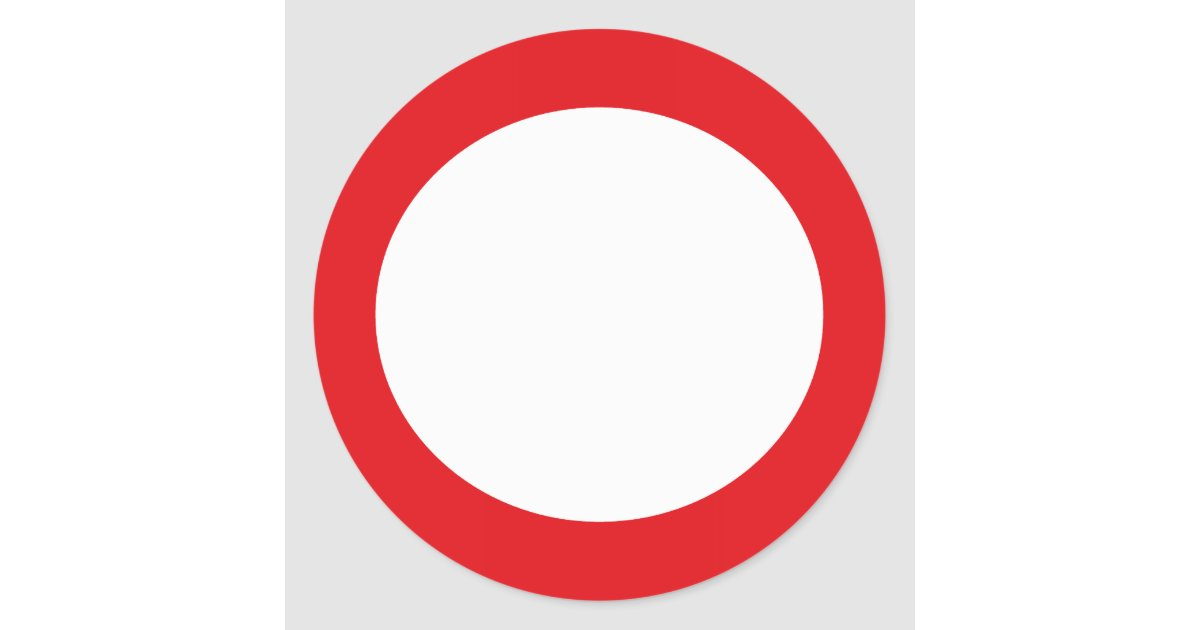 Red Colour Circle Simple Customizable Design Classic Round Sticker