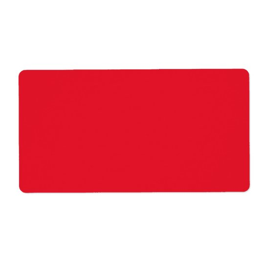 Red Colour with TrueBlock Shipping Label