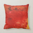 Red Colourful Abstract Pillow