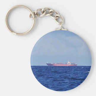 Red Container Ship Keychain