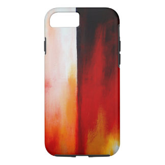Red Contemporary Modern Abstract Artwork iPhone 7 Case