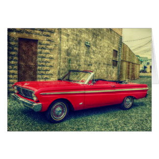 Red Convertible Collector Car Downtown Greeting Card