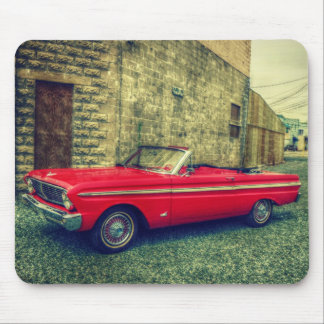 Red Convertible Collector Car Downtown Mouse Pad