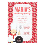 Red Cooking Chef Kitchen Party Invite