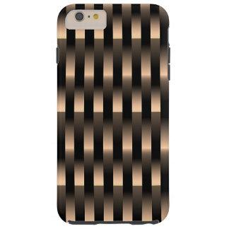 Red Copper Metallic Weave Pattern Tough iPhone 6 Plus Case