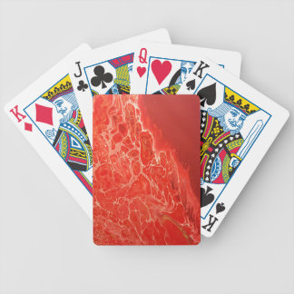 Red Coral Bicycle Playing Cards