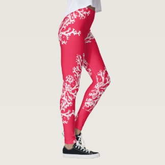 Red Coral Graphic Leggings