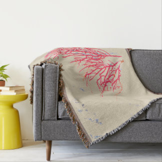 Red Coral Naturals Throw Blanket