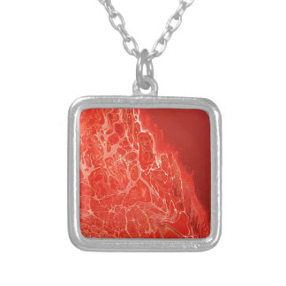 Red Coral Silver Plated Necklace