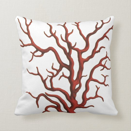 Throw Pillows With Red Coral : Red Coral throw pillow Zazzle.ca